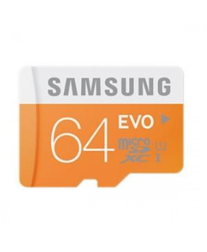 Samsung Micro SDXC 64GB EVO /w Adapter, UHS-I, Class 10, up to 48MB/s, 10 Years Limited Warranty